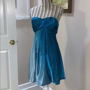 XScape Blue Bubble Dress Size 8